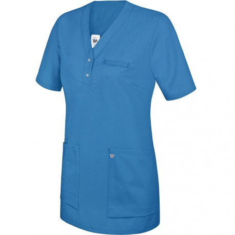 Tunique médicale Femme bleu à enfiler - BP -