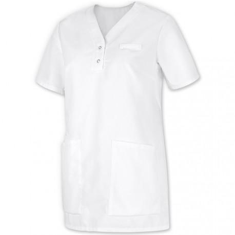 Tunique médicale Femme blanc à enfiler - BP -