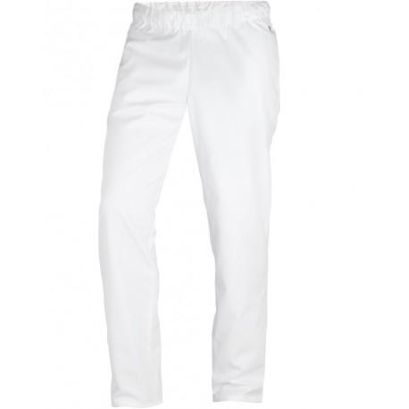 Pantalon médical blanc élastiqué confortable