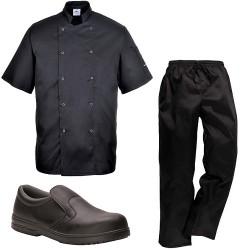 pack vetement de cuisine noir