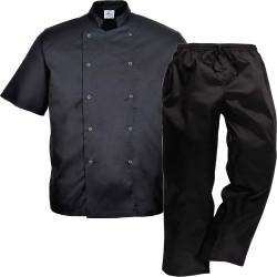 veste-cuisine-noir-pantalon-cuisine-noir