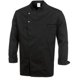 Veste de cuisine noire manches longues
