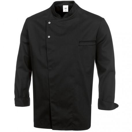 """Veste de cuisine noire manches longues """"BP"""""""