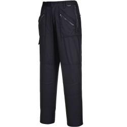 Pantalon de Travail Femme noir Tailles XL poches genoux ACTION