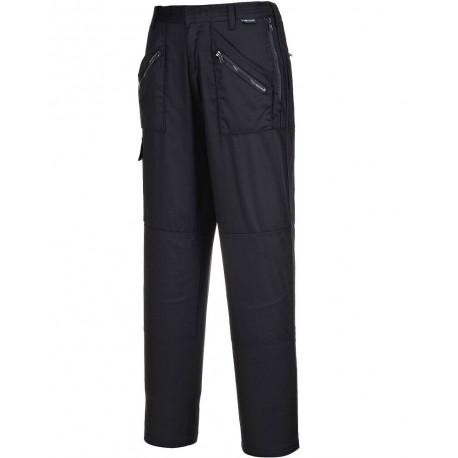 Pantalon de Travail Femme noir poches genoux ACTION