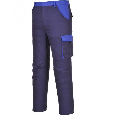 Pantalon de Travail coton bleu poches genoux POZNAN