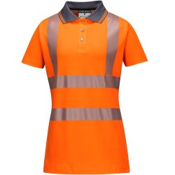 polo de travail femme orange