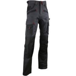 Pantalon de travail poches genouilleres -ARGILE-