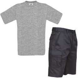Pack Travail-T-Shirt de travail+Short de Travail