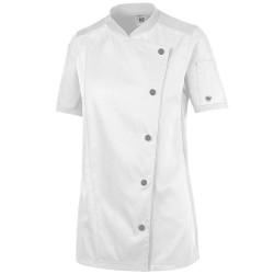 Veste de cuisine manches courtes femme-POLO-
