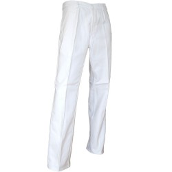 Pantalon de peintre coton blanc