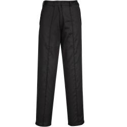 Pantalon de Travail Femme élastiqué noir