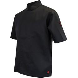 Veste de cuisine noire manche courte LMA