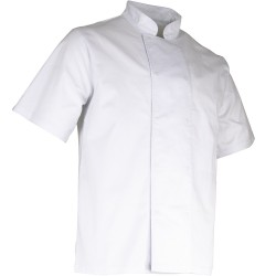 Veste de cuisine blanche manche courte LMA