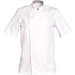 Veste de cuisine manche courte blanche COOKIE Tailles L à 3XL