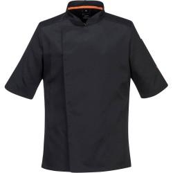 veste-de-cuisine-noire-manches-courtes-respirante