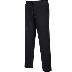 Stock Limité RUPTURE FABRICANT-Pantalon de cuisine noir élastiqué
