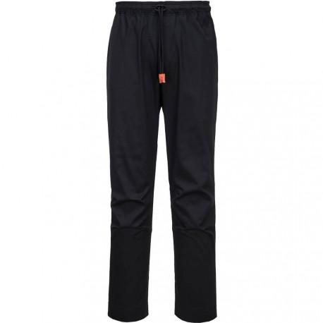 pantalon de cuisinier noir respirant