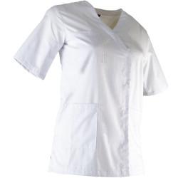 Tunique médicale Femme blanche-CLINIQUE-