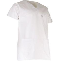 tunique medicale blanche mixte