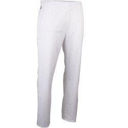 Pantalon medical blanc elastique LMA