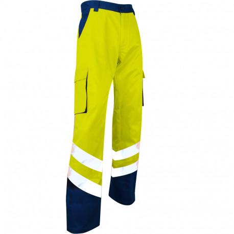 Pantalon de Travail jaune Haute Visibilité Norme EN ISO 20471