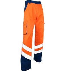 Pantalon de Travail orange Haute Visibilité Norme EN ISO 20471