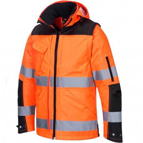 Blouson de travail orange 3en1 C469