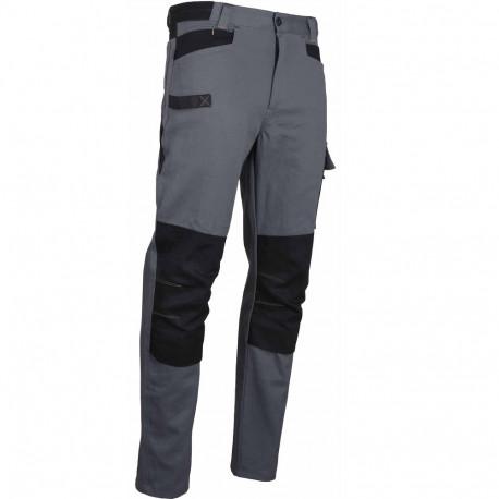 pantalon de travail coton gris poches genouillere ponce