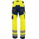 Pantalon de travail jaune poches genouilleres-DEFENSE-