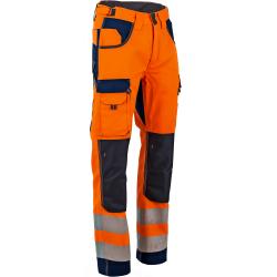 Pantalon de travail haute visibilité poches genouilleres-POLARISATION-