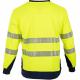 Tee shirt haute visibilite manches longues jaune respirant LMA