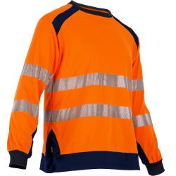 Tee shirt haute visibilite manches longues orange respirant LMA
