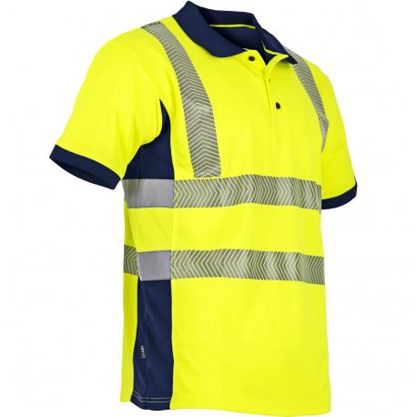 Polo haute visibilite jaune respirant LMA
