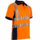 Polo orange haute visibilite respirant LMA
