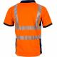 Polo haute visibilite orange respirant LMA