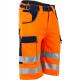 Bermuda de travail Haute visibilté orange-LMA-