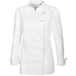Veste de cuisine femme blanche manches longues