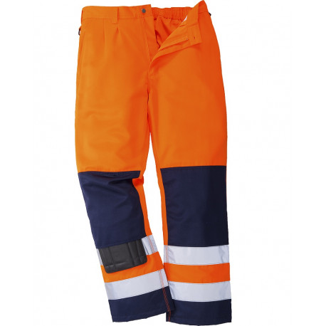 Pantalon haute visibilite orange norme EN20471