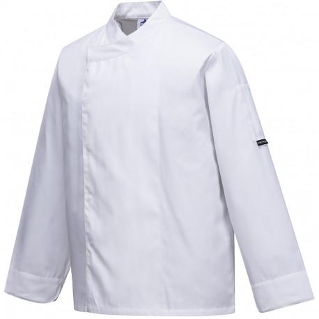 Veste de cuisine manche courte blanche respirante