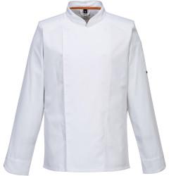 Veste de cuisine ventilée blanche manches longues CLIMAT