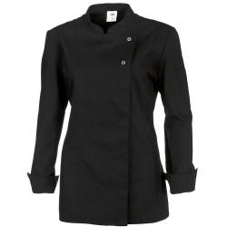 """Veste de cuisine femme noire manches longues """"BP"""""""