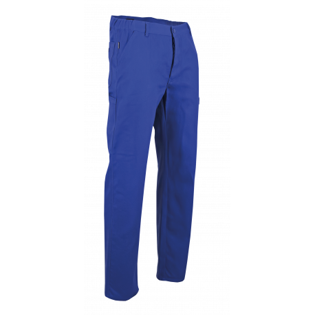 Pantalon de travail bleu coton elastique