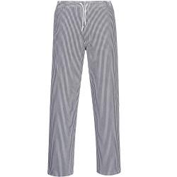 Pantalon de cuisine coton pied de poule élastiqué