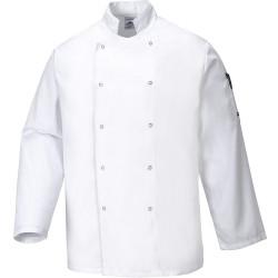 veste de cuisine manche longue blanche
