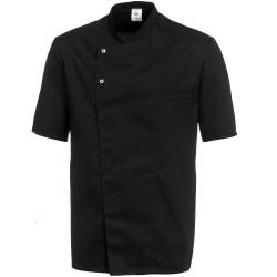 """Veste de cuisine noire manches courtes """"BP"""""""