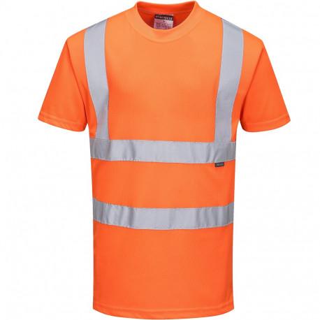 T-shirt haute visibilité orange Manches Courtes EN 20471