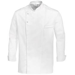 Veste de cuisine blanche manches longues