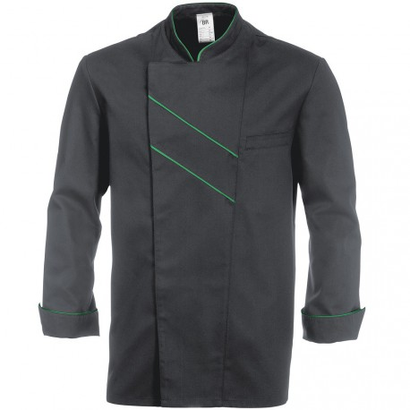 "Veste de cuisine grise stretch GRAND CHEF ""BP"""