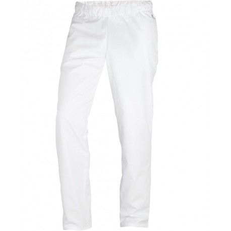 "Pantalon de cuisine blanc confortable ""BP"""